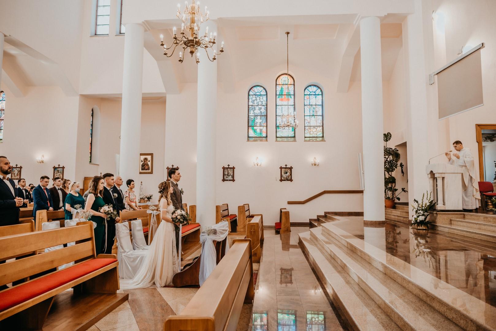 ślub kościelny, rustykalny ślub